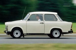light brown trabant car