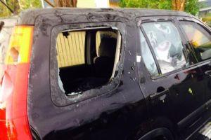 car damaged by hail in brisbane